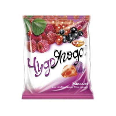 Мармелад «Чудо ягода» вкус малины, брусники и черной смородины