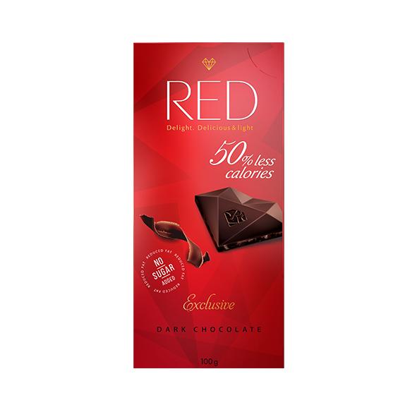 Шоколад тёмный RED с пониженной калорийностью