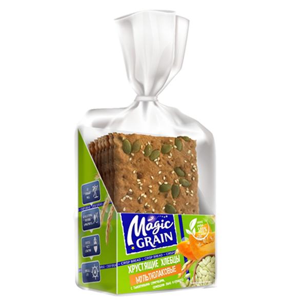 """Хлебцы """"MG"""" Мультизлаковые с тыкв. семечками, семенами льна и кунжута"""