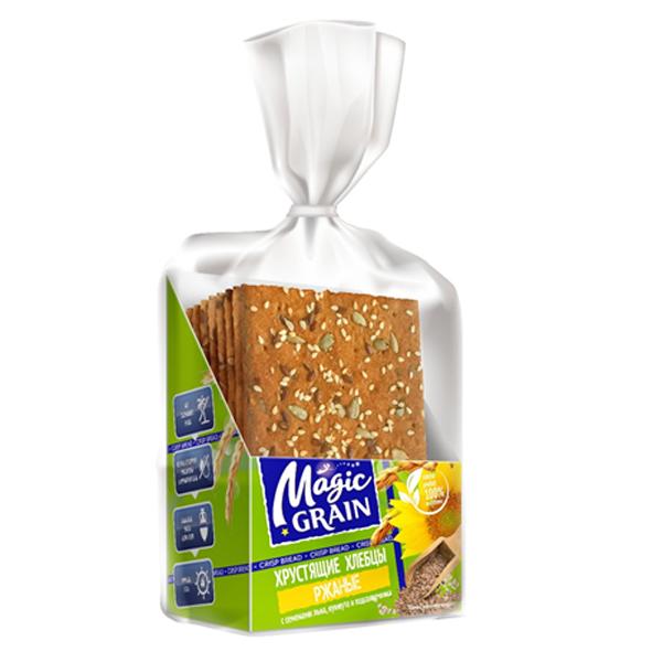 """Хлебцы """"MG"""" Ржаные с семенами льна, кунжута и подсолнечника"""
